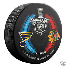 2016 Stanley Cup Playoffs Round 1 Dueling Puck St.Louis Blues Chicago Blackhawks