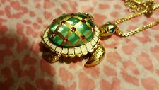 "NWT Betsey Johnson Fabulous ""Sea Excursion"" Long Necklace with Turtle Pendant"