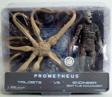 "TRILOBITE vs. ENGINEER -BATTLE DAMAGED- Prometheus 7"" inch Figures TRU Neca 2012"