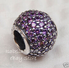 NEW Authentic PANDORA Violet  Zirconia PAVE LIGHTS Purple Charm~Bead 791051CFP