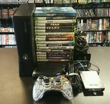 320GB Xbox 360 Slim w/ 17 Games - Witcher 2, Dead or Alive, Battlefield +++