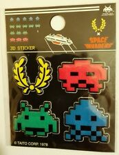 FRED PERRY Bevelled 3D SPACE INVADERS Stickers Set