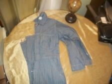 VINTAGE MENS COVERALL UNIVERSAL OVERALLS STONE CUTTER HERRINGBONE SZ 40