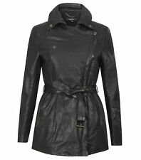 Muubaa Jena larga de cuero Chaqueta Trench de Mac UK10/US6/EU38 RRP £ 699.00