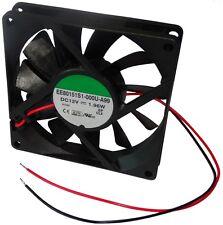Ventilateur de boîtier d'ordinateur PC 12V 80x80x15mm 62,86m3/h 34,7dBA 3000rpm