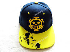 Japanese Anime ONE PIECE Hip-hop hat/cap w/Trafalgar Law skull embroidery mark