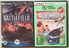 Battlefield 1942 SHOOTER + SILENT HUNTER 4 Wolves of the Pacific PC raccolta