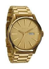 **BRAND NEW** NIXON WATCH SENTRY SS ALL GOLD WATCH A356502 NEW IN BOX!