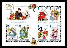 Tristan da Cunha 2015 Alice in Wonderland 6v MS MNH