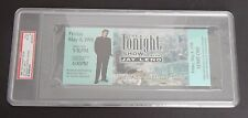 PSA 6 1998 JAY LENO UNUSED TICKET for THE TONIGHT SHOW in Chicago BLUE