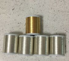 5 x Metallic Machine Embroidery Thread 200mtrs each  - 1200/2  100% Rayon