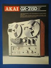 AKAI GX-215D R2R SALES BROCHURE ORIGINAL FACTORY ISSUE THE REAL THING