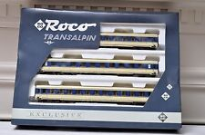 HO Scale-Roco 43054 Transalpin Exclusive 3-Car 1st 2nd Class Passenger Set (PG)