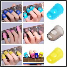 Silicone Guitar Thumb Finger Picks Protector Plectrum Fingertip Colors Random