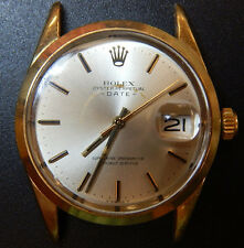 MENS 1970 ROLEX OYSTER DATE REF# 1550 SS & GOLD SHELL 33 MM JUST SERVICED