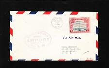 US Airport Dedication Hornell NY Air Mail 1929 Low Number Flown Cover z83