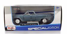 "Maisto 1965 Chevrolet El Camino 1:25 scale 7.5"" diecast model car Blue M223"