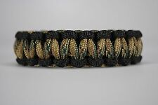 550 Paracord Survival Bracelet Cobra Black/Multi Camo Camping Military Tactical