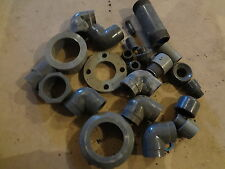 MIXED LOT OF (23) SCH 80 PVC / CPVC - PIPE / FITTING MIXED SIZES- ELBOWS UNION