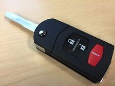 Mazda Remote Flip Key Fob CASE/SHELL 3 Button Mazda 3 5 6 RX-8 CX-7 CX-9