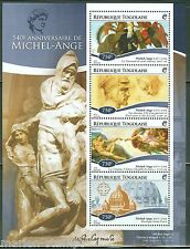 TOGO 2015 540th BIRTH ANNIVERSARY OF MICHELANGELO SHEET  MINT NH