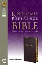 KJV Reference Bible, Giant Print Indexed by Zondervan Staff (2004, Leather,...