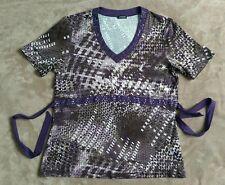 Gerry Weber Shirt tunika Lila-braun Pailletten Gr 42/44