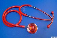 Stethoskop,Schwesternstethoskop,Doppelkopf,Rettungsdienst,rot mit Verpackung