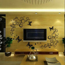 DIY Vinyl Decal Removable Butterfly Flower Art Mural Home Decor Wall Stickers