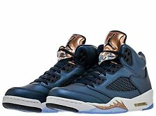 2016 Nike Air Jordan 5 V Retro SZ 9 Bronze Obsidian Blue Olympic 136027-416