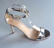 JCrew Mirror Metallic High Heel Sandals Women's 9.5 Silver Pumps Heels Summer