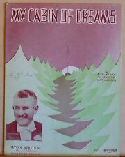 My Cabin of Dreams - 1937 vintage sheet music, photo cover of Jimmy McHale