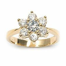 Dolly-Bijoux Bague T50 Fleur Marquise 10mm Diamant Cz Plaqué Or 18K MadeInFrance
