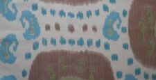 BRUNSCHWIG & FILS Samarkand Central Asian Suzani Taupe Aqua Remnant New