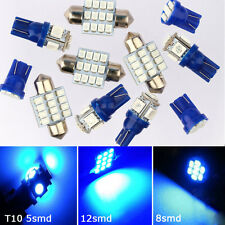 11 PCS Blue LED lights T10 & 31mm Dome Map & Tag lamp for Interior package Kit