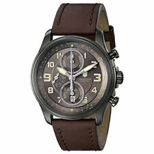 Victorinox Swiss Army Men's Chrono Automatic S. Steel Brown Leather Watch 241520