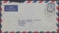 1953 Irak Iraq Cover to Germany, King Faisal II [ca778]