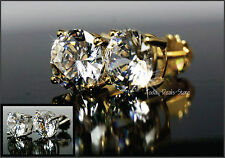 2.00 Carat VVS/D Studs Matching Womens Earrings Genuine 14K Yellow Gold