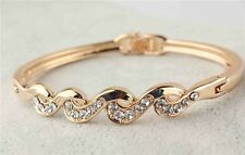 Bangle Bracelet 9ct Gold Filled Hinged Diamonds Smart Classic Gift