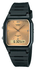 Casio AW48HE-9A Men's Resin Strap Gold Dial Analog Digital Dual Time Watch