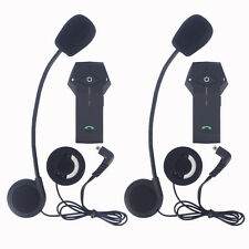 2x BT Motorcycle Bluetooth Intercom Motorbike Helmet Interphone Headsets 1000M