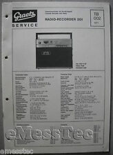 ITT/GRAETZ RADIO RECORDER 301 Service Manual, tb002