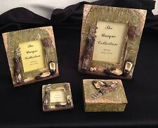 Golf Collectibles  2 Picture Frames 1 Magnet 1 Trinket Box Country Decor