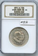 1951-D Wash/Carv 50C (#1856) NGC MS64. White. Check out the Photos.
