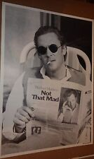 "PINUP POSTER~Michael Madsen Reading Newspaper ""Not That Mad"" 24x34"" NOS UK Orig~"
