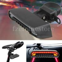 Bicycle Bike Rear Tail Laser LED Indicator Turn Signal Light Wireless Remote USB