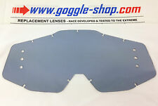 GOGGLE-SHOP DRILLED ROLL-OFF LENS LIGHT SMOKE to fit 100% MOTOCROSS MX GOGGLES