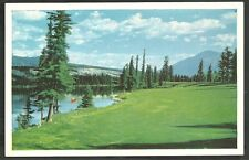 14th Fairway Jasper Park Lodge Golf Course Lac Beauvert Man in Canoe