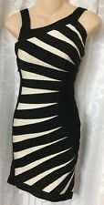 Herve Leger Dress Black And White  Xs