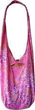 Schultertasche Beuteltasche Umhängetasche Blumen Optik Tasche Hippie neu 03002